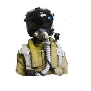 1/8th scale Jet Pilot Bubble visor-Bust