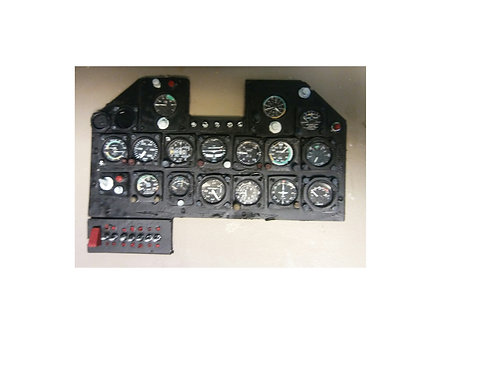 INSTRUMENT PANEL 1/5TH SCALE  P-47