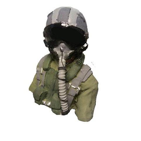 1/8th scale Jet Pilot Bust outer visor down