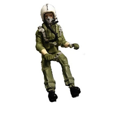 1/8th scale Jet Pilot Shrouded Visor up with mask full body
