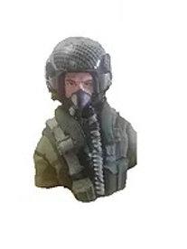 1/6th scale Jet Pilot- Euro Helmet