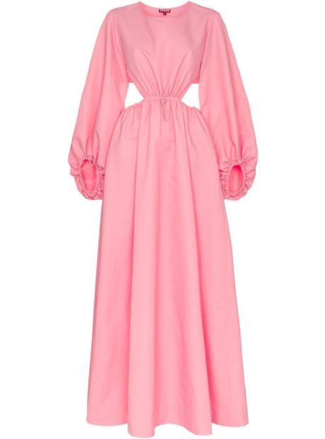 Vestito lungo Ivy Staud; 360 euro.