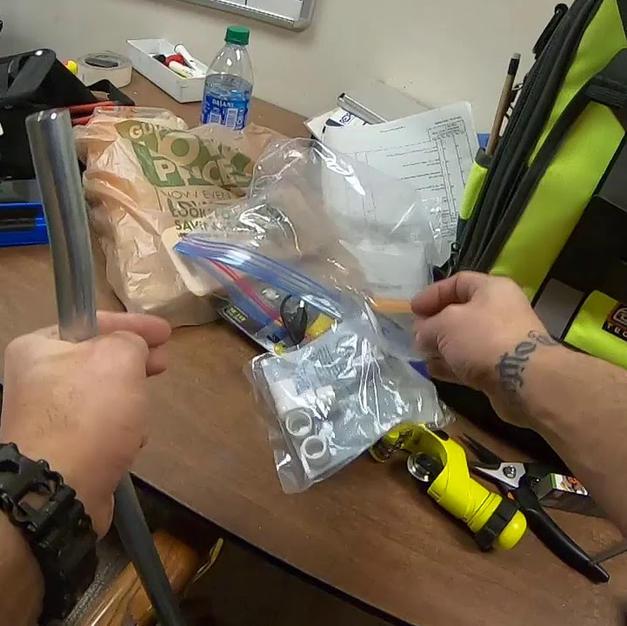 Installing LV conduit