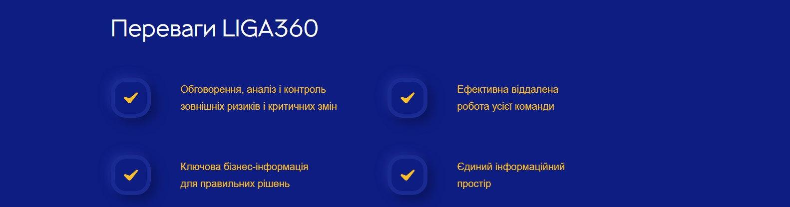Переваги LIGA360