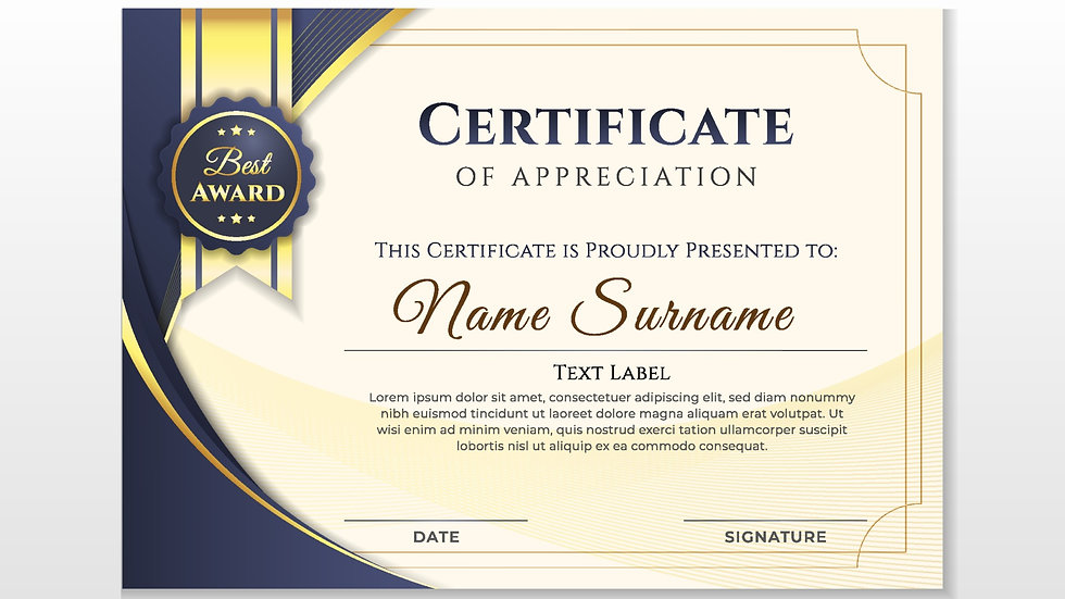 Your own certificates printed and laminated