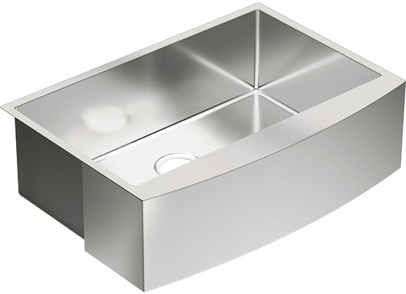 Moen 1800 Series 30 1-Basin Apron Front Kitchen Sink Stainless Steel