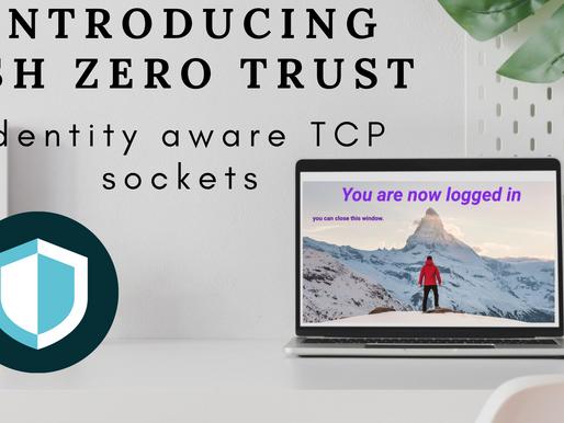 Introducing SSH zero trust, Identity aware TCP sockets