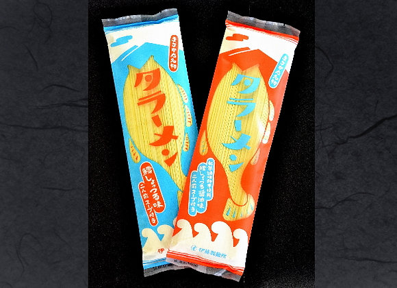 商品名:タラーメン(塩味と醤油味の二種類があります)