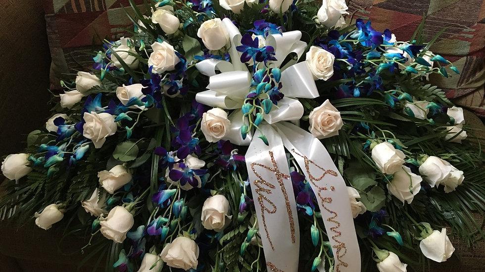 Arreglo floral para ataúd