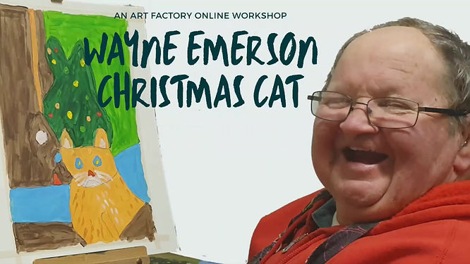 Wayne Emerson guides us through creating an acrylic painting of his Christmas Cat