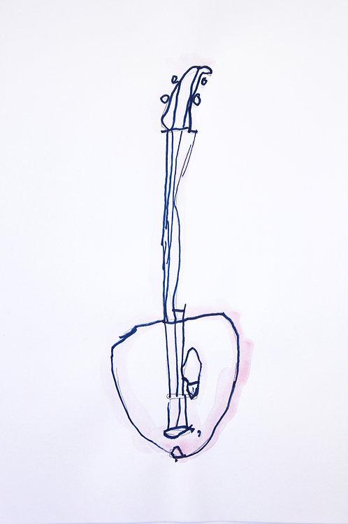 Bass Guitar (Red)