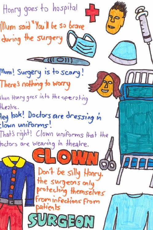 Clown Surgeons (6 pages) (zine digital download)