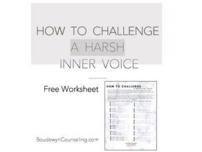 How To Challenge A Harsh Inner Voice