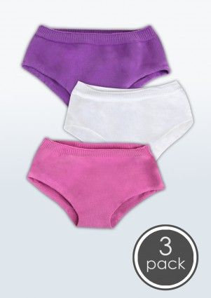 3 Pairs SmartKnitKIDS Seamless Undies for Girls