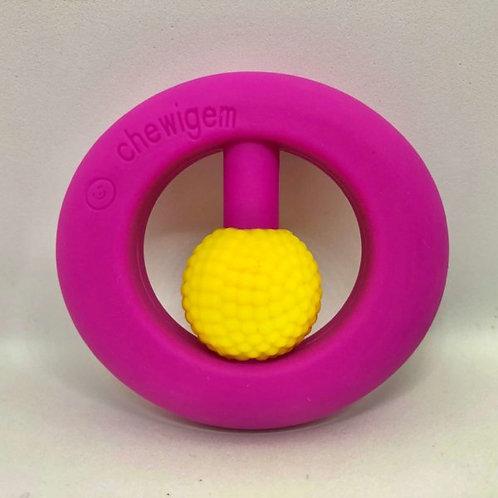 Hand Fidget - Pocket Sized Stim Toy - Pink & Yellow