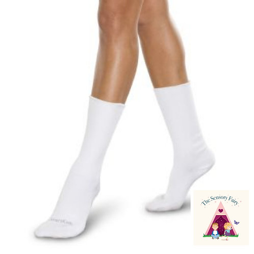 WHITE Truly Seamless Socks for BIGGER Kids - Large