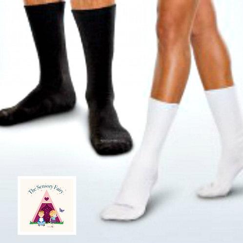 BLACK Truly Seamless Socks for BIGGER Kids - Large