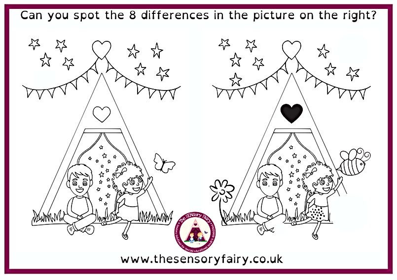 Can you spot the 10 differences in the p