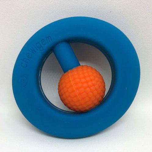 Hand Fidget - Pocket Sized Stim Toy - Blue & Orange