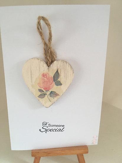 Shabby chic heart card