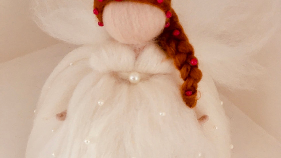 Made to order Customised 7 inch brown hair Fairy Tree topper