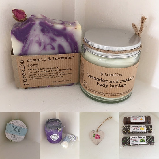 Lavender pamper and spa gift box
