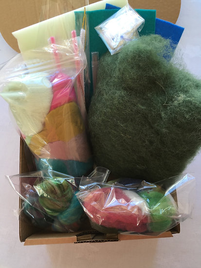 Needle Felting small starter Kit boxed