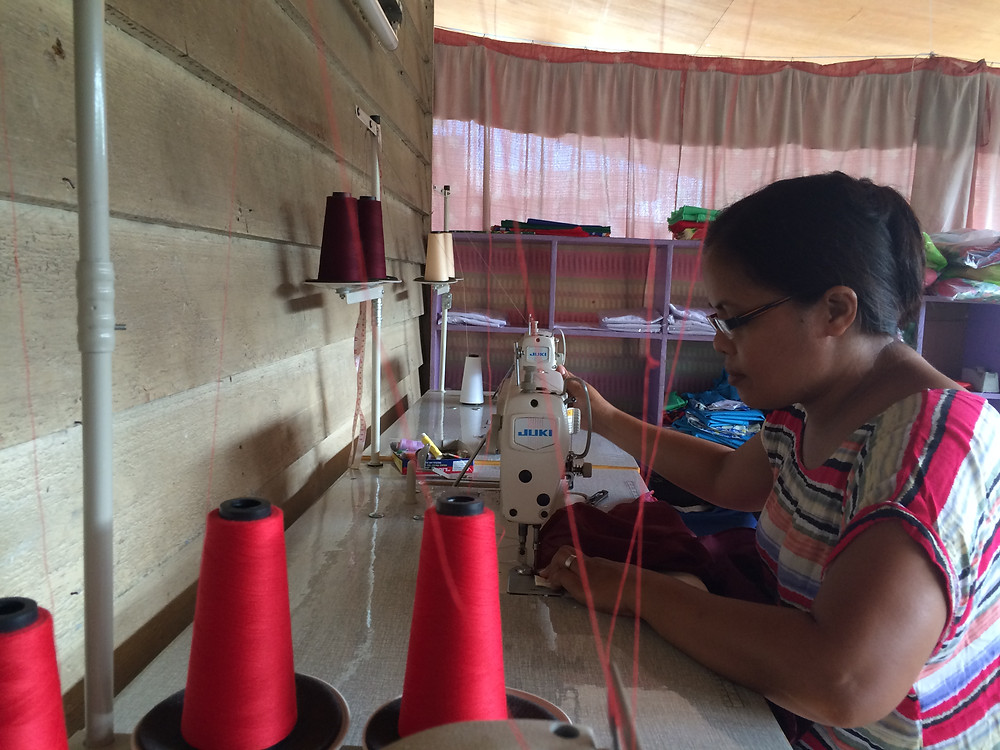 Sewing Co-Operative Well underway