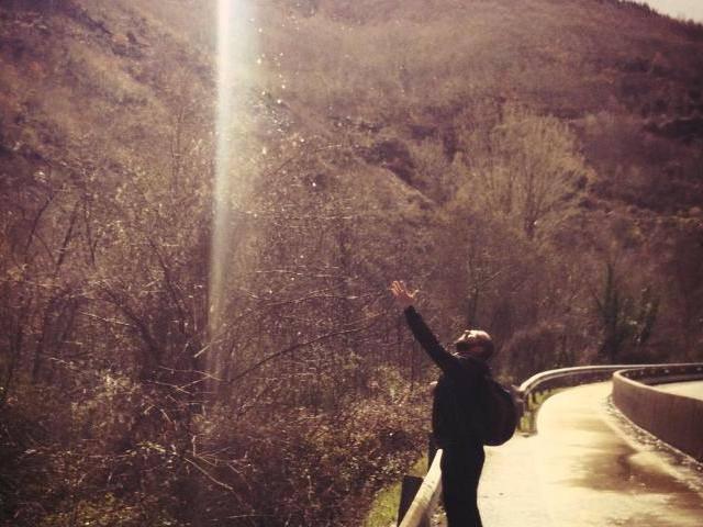 Matthew John on el Camino de Santiago