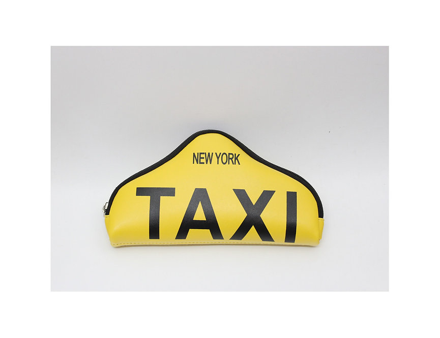 purse wallet # ny taxi sign shape, let's go to the big apple by taxi