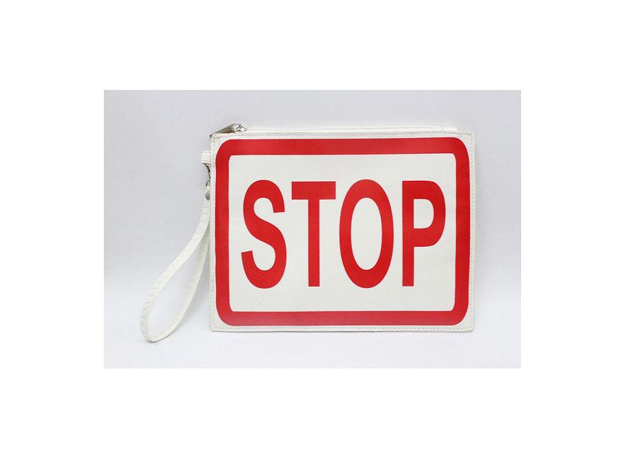 bag and wallet # stop traffic sign, stop and take a break