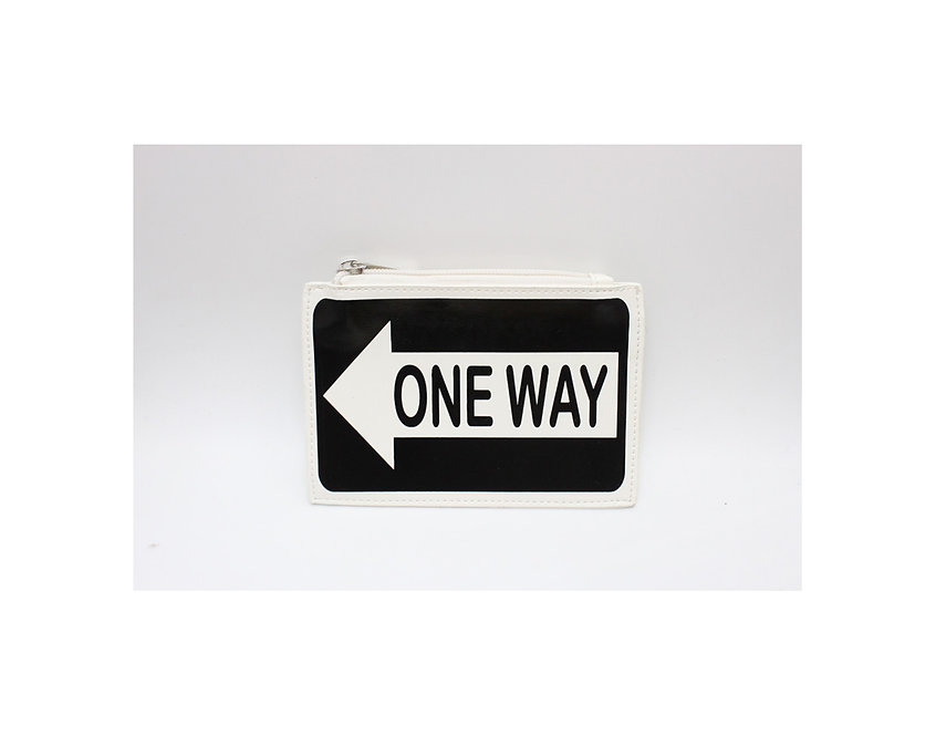 purse # onway traffic sign, let's give the right direction