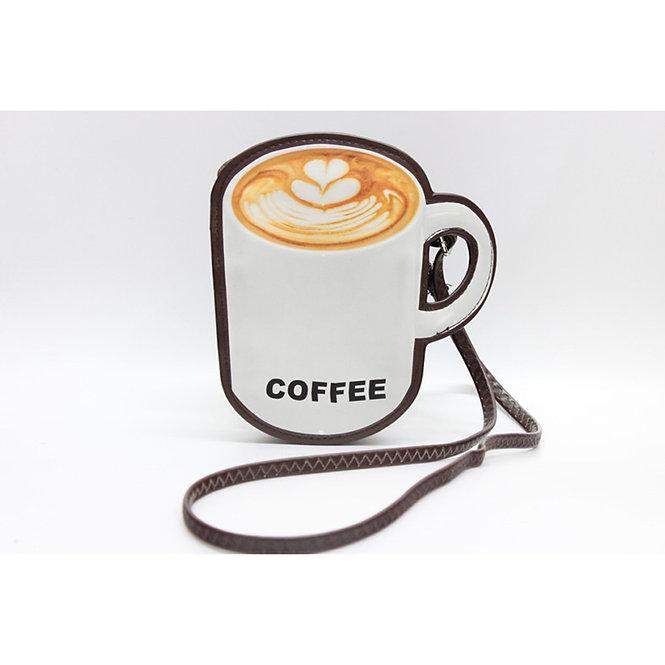 crossbody bag # a coffee mug shape, bring along your own coffee
