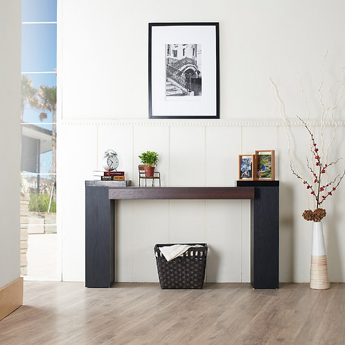 Double Color Console Table