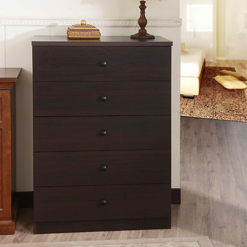 5 Layers Espresso Drawer Chest