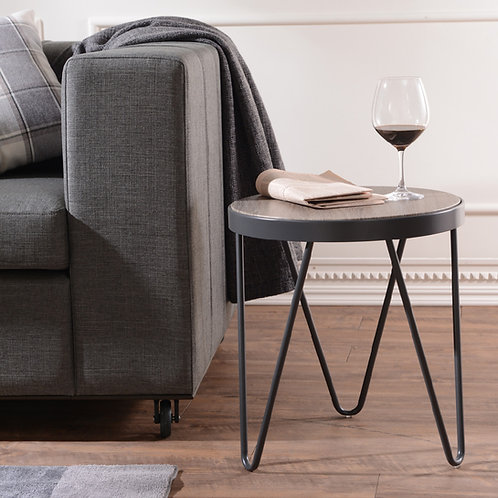 V-Shape Iron Foot Darkolino Side Table