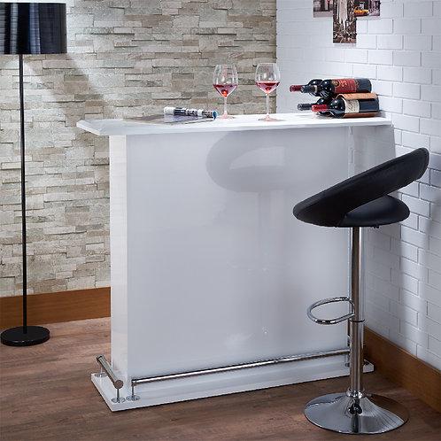 Bright White Modern Quality Bar Table
