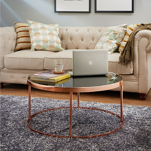 Rose Gold Round Tabletop Coffee Table