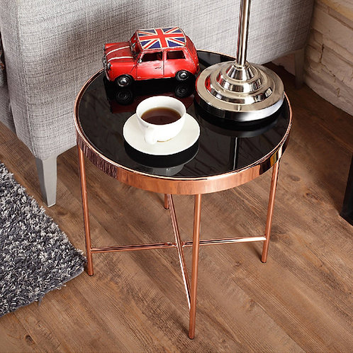 Rose Gold Round Tabletop Side Table