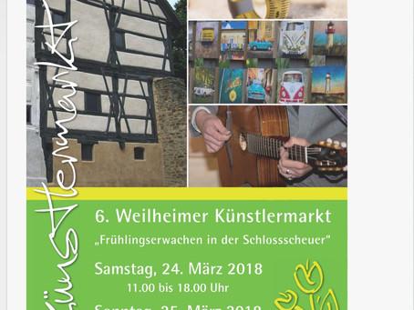6. Künstlermarkt in der Schlossscheuer und drum herum !