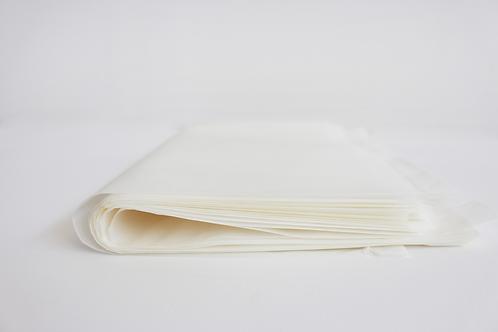 5 Fogli di carta velina/Craft bianca