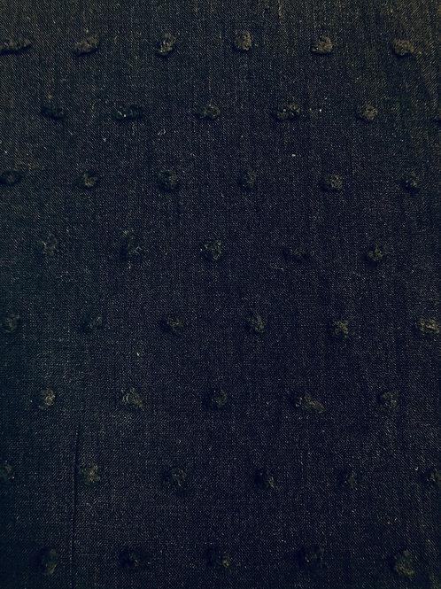 Tessuto velo di cotone Plumetis nero