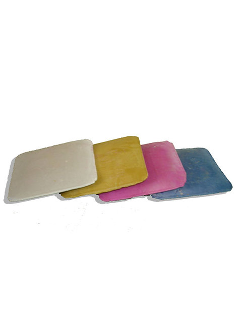 Gessetti per sarti - 4 pezzi assortiti - bianco, blu, giallo, fucsia