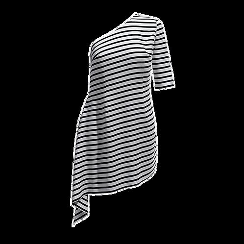 Vestito monospalla con manica 181120-19