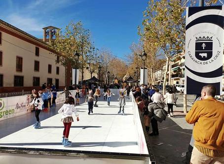 Una pista de hielo para patinar en Caravaca de la Cruz durante esta Navidad