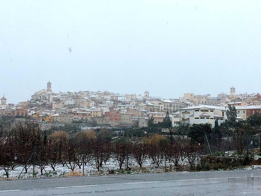 Nieve en Cehegín