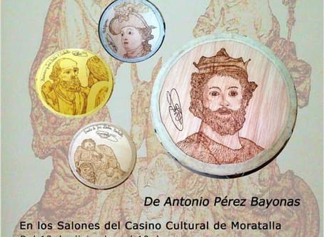 """Exposición """"El Belén de Salzillo en pirograbado y pandereta"""" en el Casino Cultural de Moratalla"""