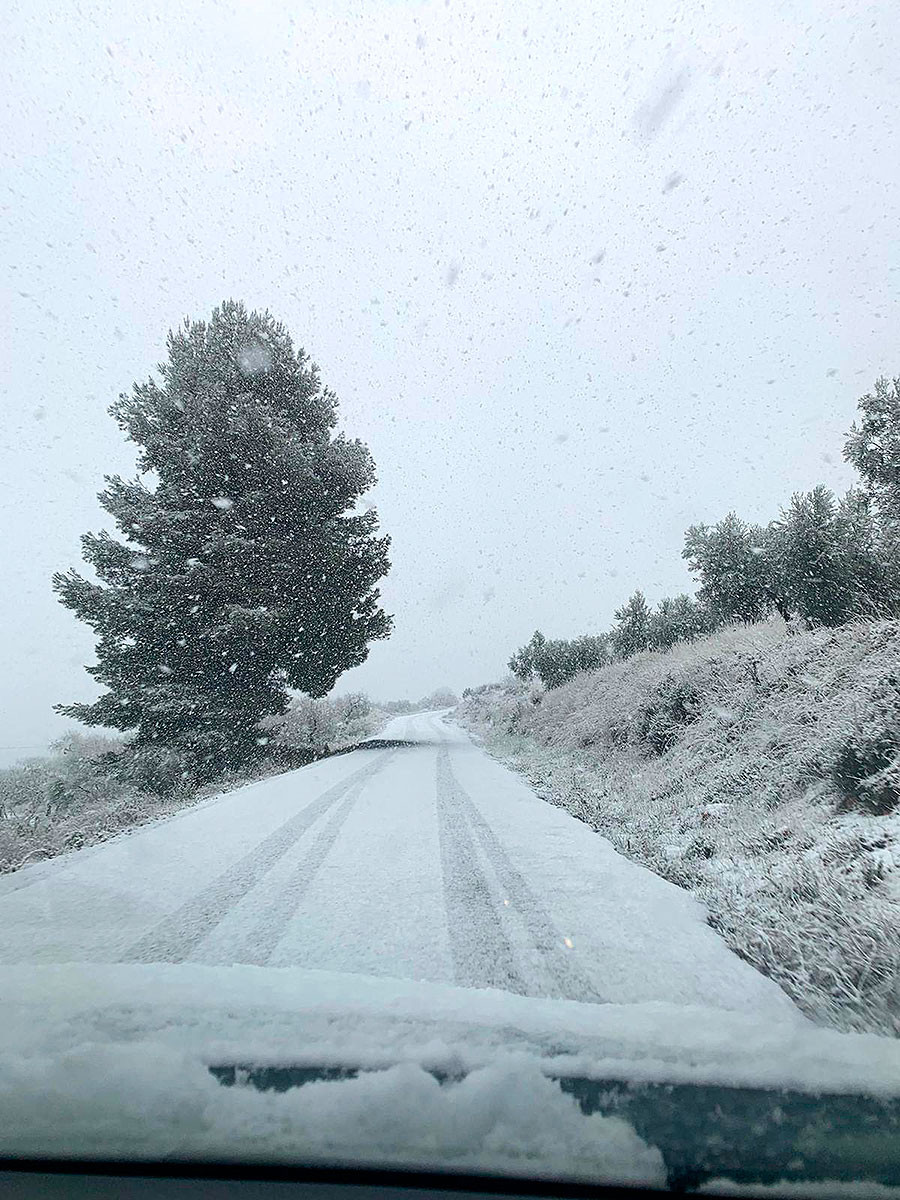 Nieve en Moratalla, Región de Murcia