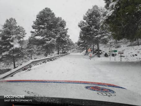 Fotografías de la nieve en diversos municipios del Noroeste de la Región de Murcia
