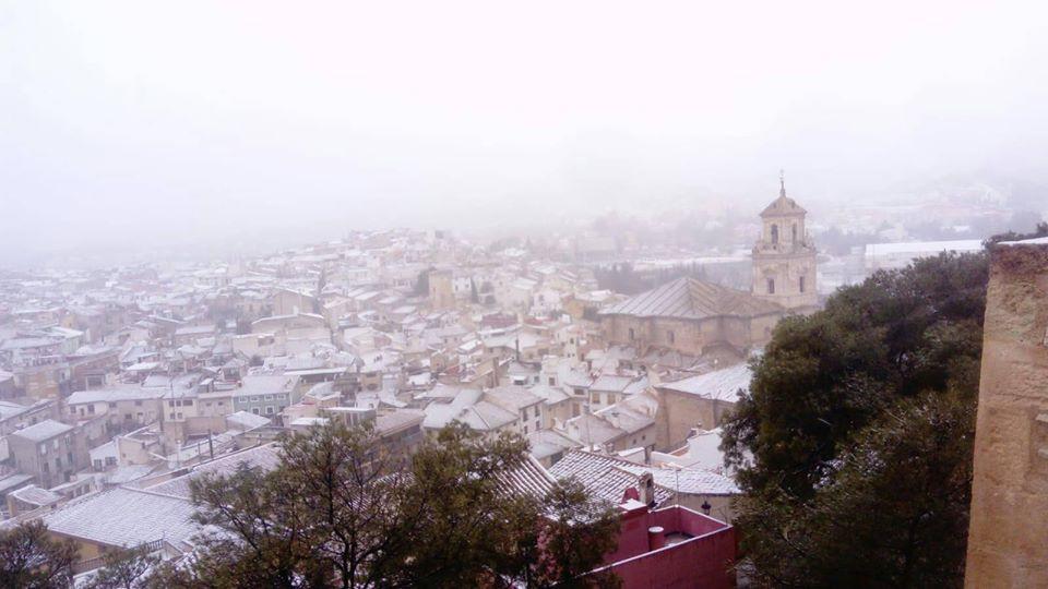 Nieve en Caravaca de la Cruz